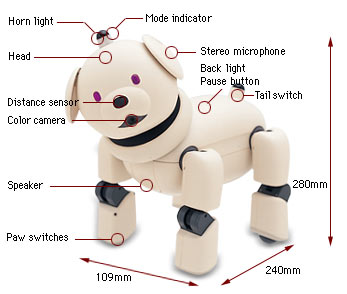 Aibo puppy features