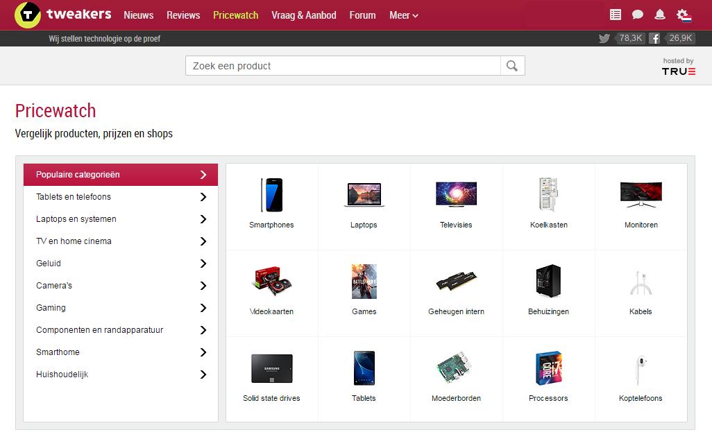 Screenshot pricewatch