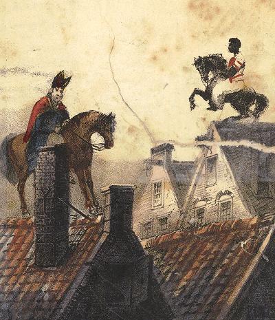 St. Nikolaas en zijn knecht (1850)
