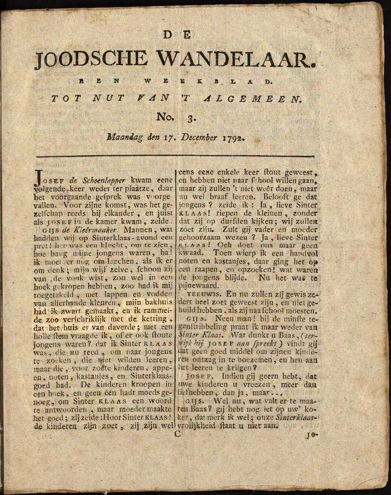 De Joodsche Wandelaar - No.3 (1792)