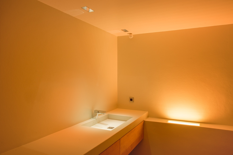 Ledverlichting badkamer gastenverblijf