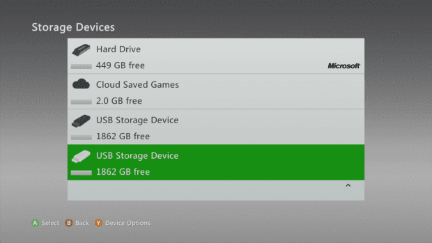 Xbox 360 cloud storage