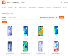 Site Xiaomi Android-updates