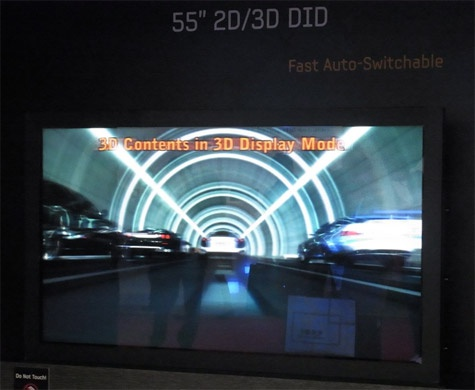 Samsung 3d-display zonder bril lcd ipv lenslaag