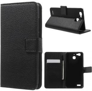 qMust Huawei P9 Wallet Case - hoesje met stand - Black