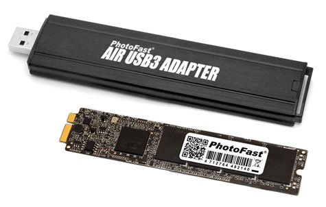 PhotoFast ssd-upgrade voor MacBook Air