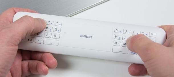 Philips PFL9707 remote qwerty-toetsenbord