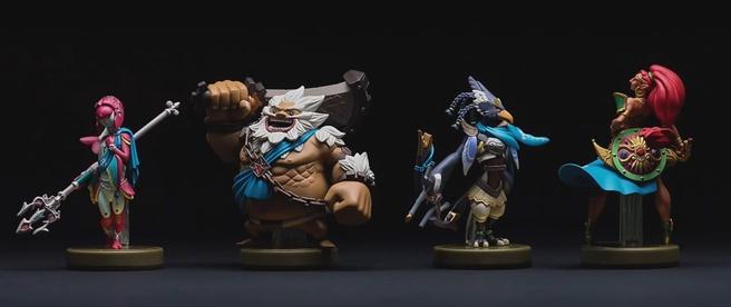 Amiibo van de Champions uit The Legend of Zelda: Breath of the Wild