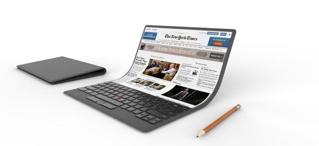 Lenovo-concept vouwbare laptop