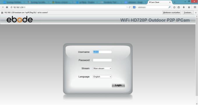 Ebode IPV58P2P Web-interface