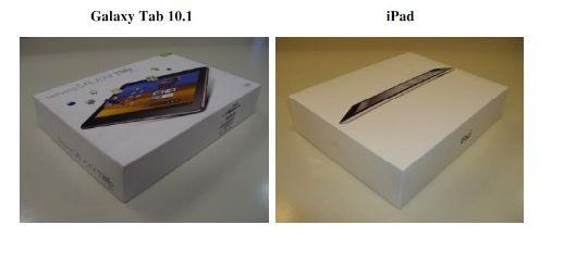 Samsung Galaxy Tab 10.1 en iPad