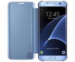 Samsung Galaxy S7 edge Clear View Cover  Blauw