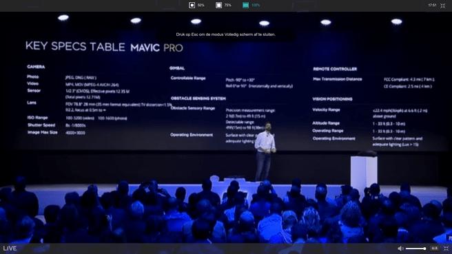 DJI Mavic Pro presentatie