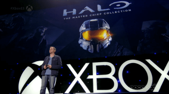 Screenshot E3 2014 Microsoft presentatie Master Chief Collection