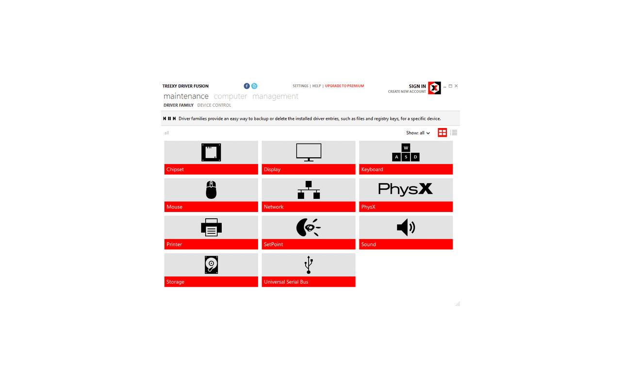 Driver Fusion 1.7.0 screenshot (620 pix)