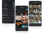Android 10 donkere modus