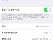 Apple iOS Siri Nederlands