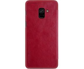 Nillkin Qin PU Leren Case - Samsung Galaxy A8 Plus (2018) - Rood  Rood