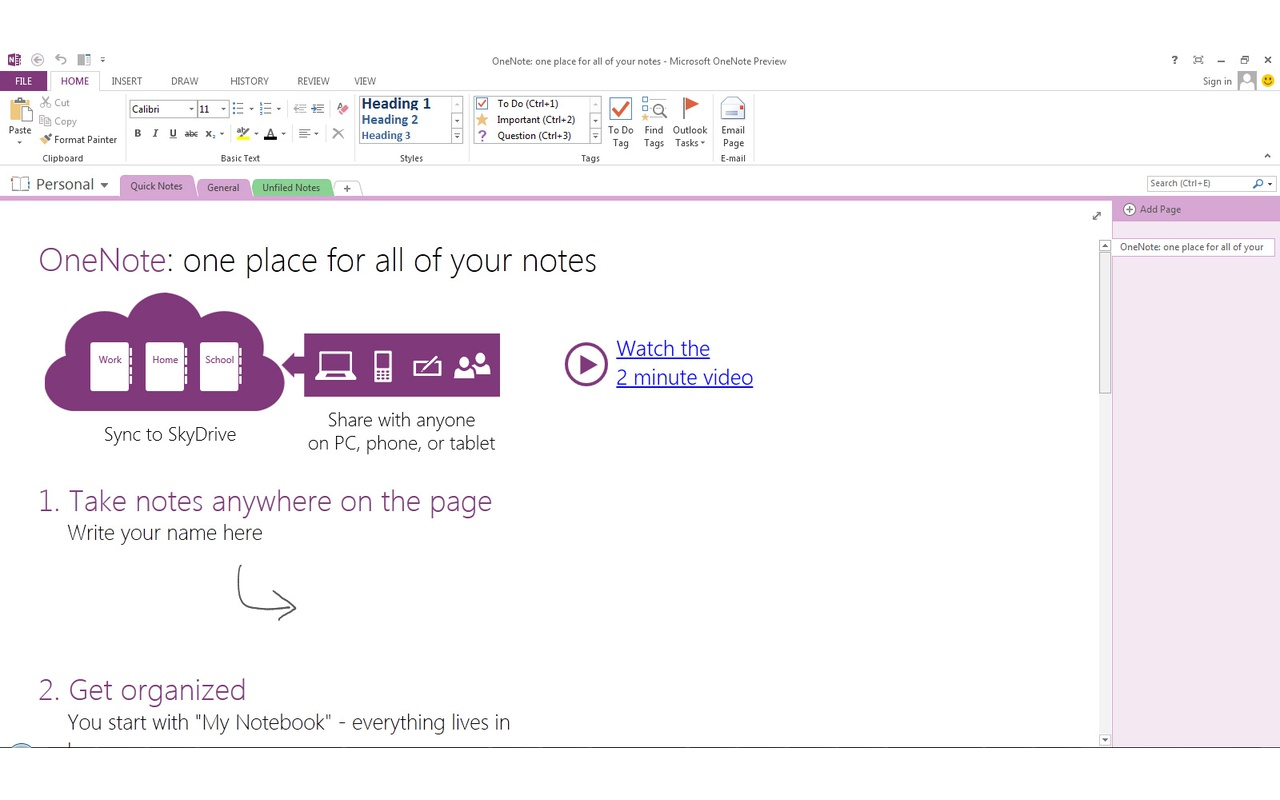 Office 2013 - Onenote