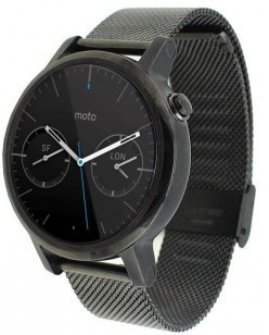 qMust Milanees armband voor Motorola Moto 360 42mm Women (2nd gen) - Black