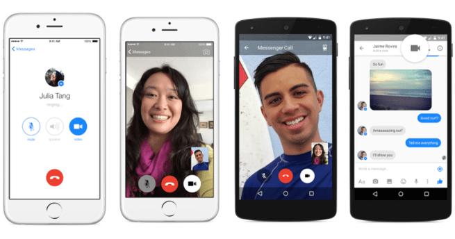 Facebook Messenger voip video