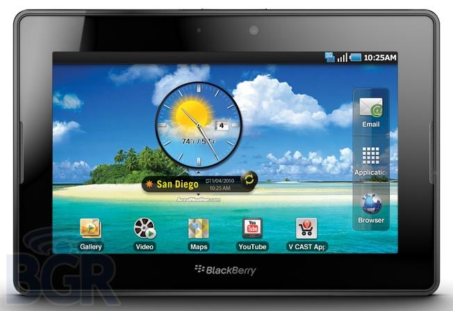 Mockup: PlayBook met Android (Bron: BGR)