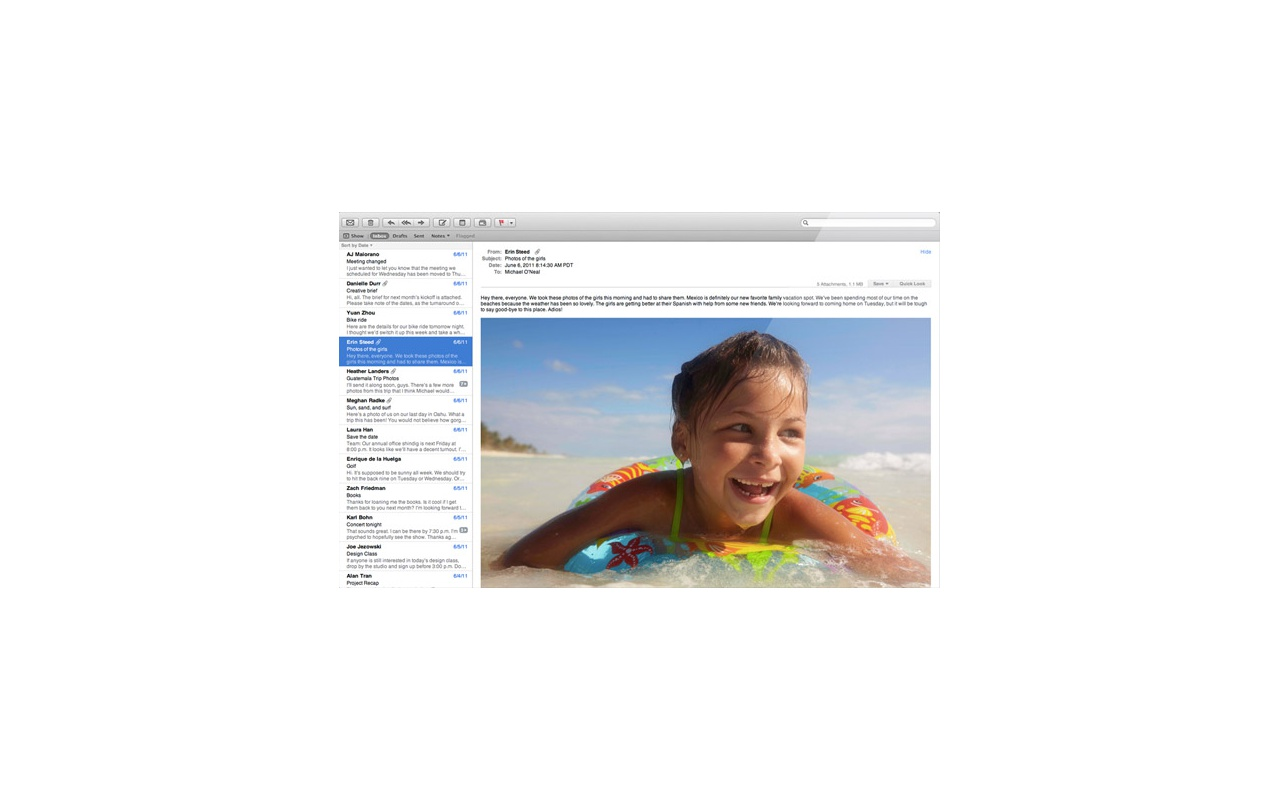 Mac OS X Lion -- Mail