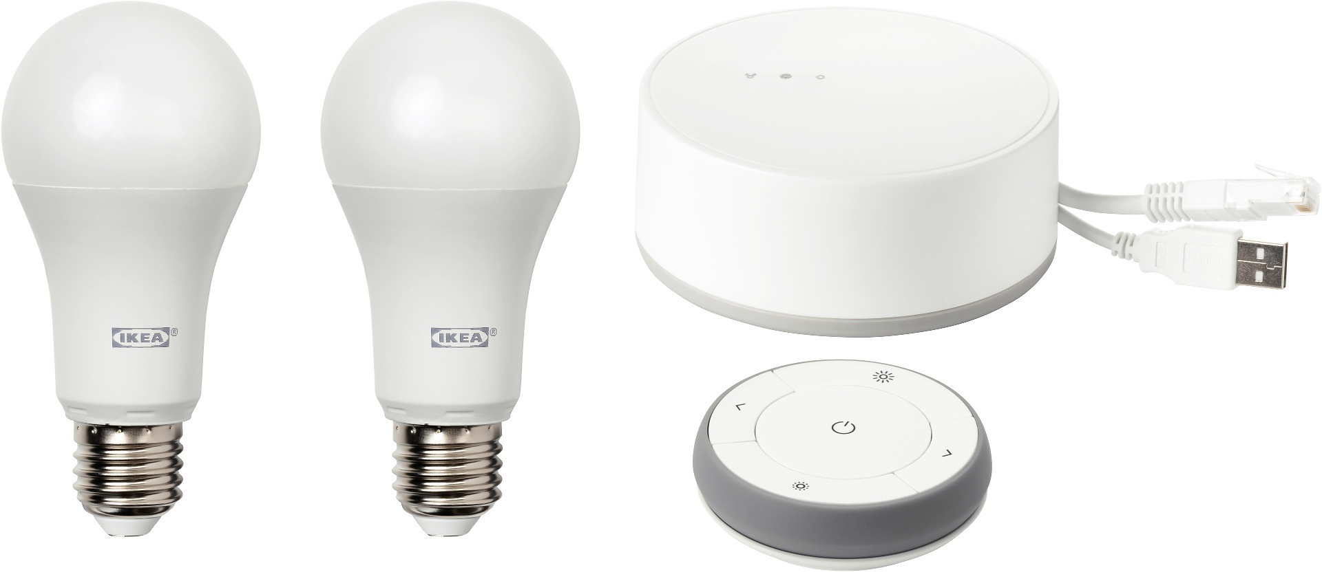 Ikea TRÅDFRI E27 LED 980lm, Set van 2 lampen met verbindingshub ...