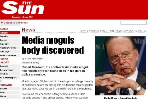 LulzSec meldt dood Rupert Murdoch