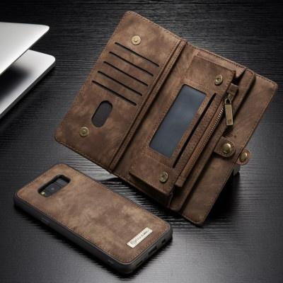 Caseme Samsung Galaxy S8 Luxe Lederen Portemonnee Hoesje - uitneembaar met backcover (bruin)