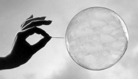 Zeepbel barst - bubble burst