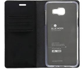 Mercury Blue Moon Wallet Case - Samsung Galaxy J5 (2016) - Zwart Zwart
