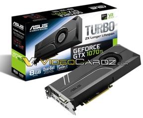 Nvidia GTX 1070 Ti Asus-koelers