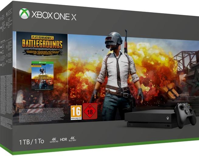 Microsoft Xbox One X + PlayerUnknown's Battlegrounds Zwart