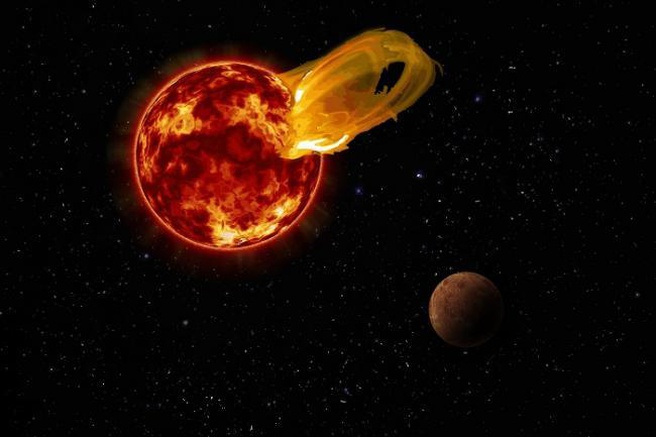 Proxima Centauri zonnevlam