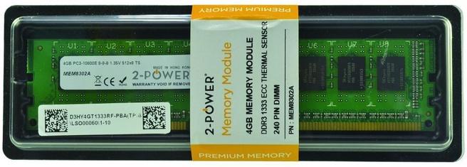 2-Power 4GB DDR3L 1333MHz ECC + TS UDIMM Memory