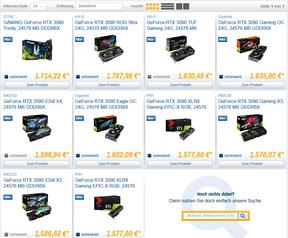 RTX 3080- en 3090-prijzen bij Caseking.de