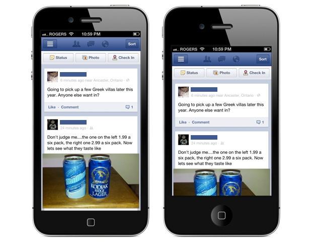 Mockup: iPhone met groter scherm naast huidige iPhone