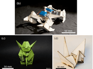 Elastocapillary Self-folding of micro-machined Structures, capillary Origami