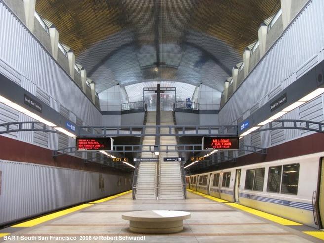 Metrostation van Bart in San Francisco (bron: Robert Schwandl)