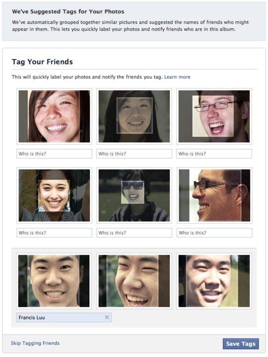 Facebook - autotag