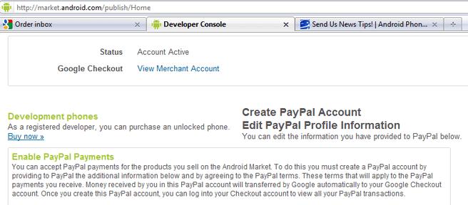 Screenshot Android Market met Firebug (bron: Phandroid)