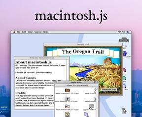 Mac OS 8.1 als Electron-app