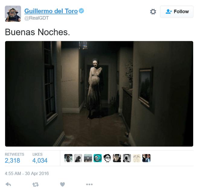 Tweet Del Toro Silent Hills