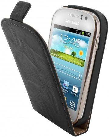 Mobiparts Mobiparts Vintage Flip Case Samsung Galaxy Fame Black