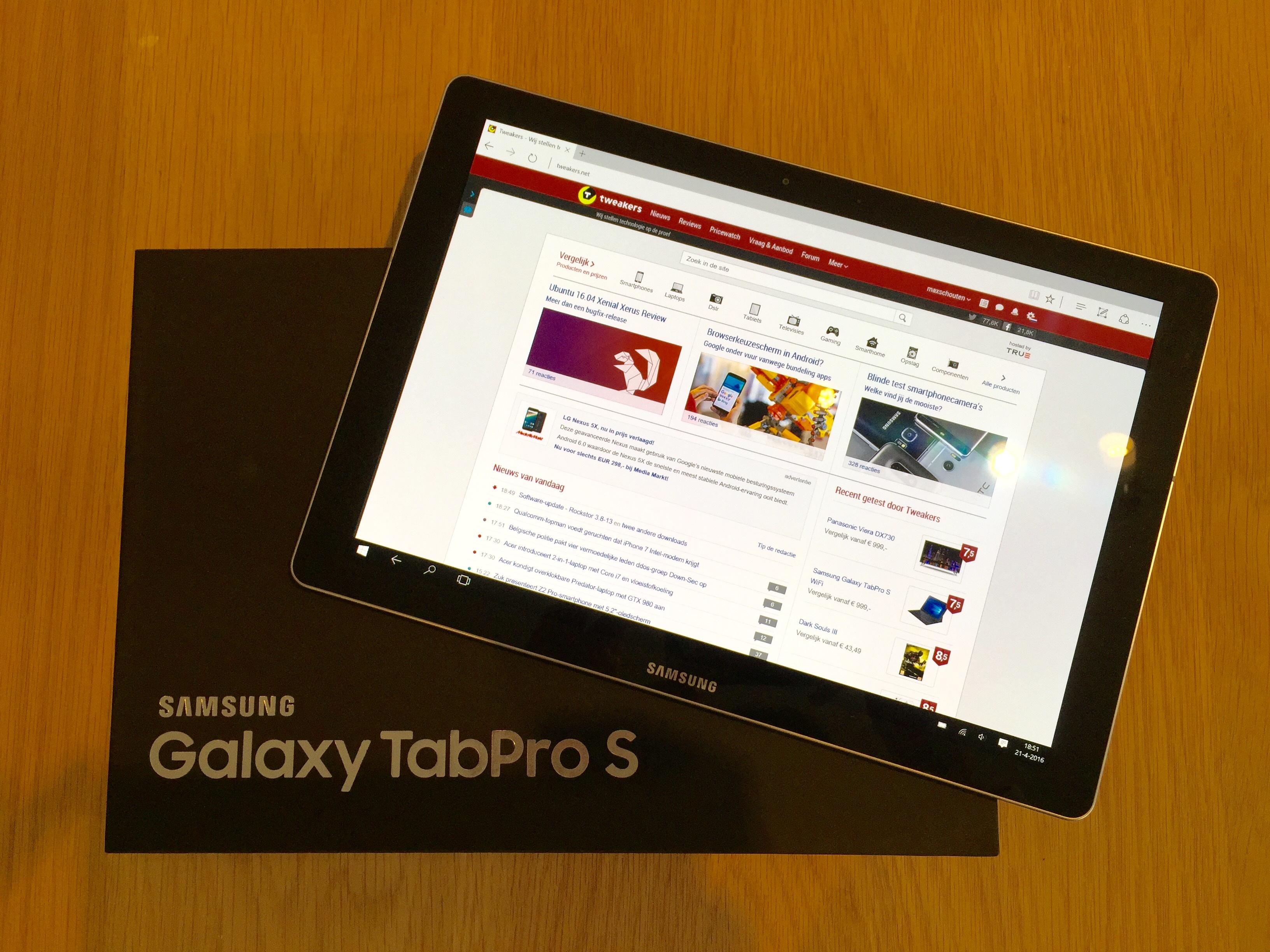 Samsung Galaxy Tabpro S Wifi Windows 10 Home Zwart
