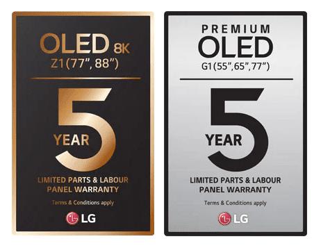 LG oled 5 jaar garantie