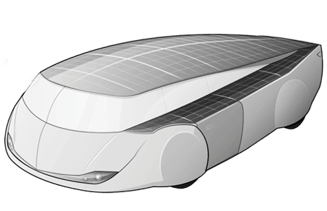 Gezinsauto op zonne-energie, concept van de TU/e