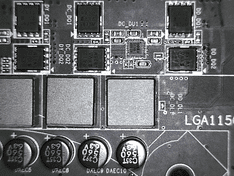 CPU VRM fases achterzijde 2
