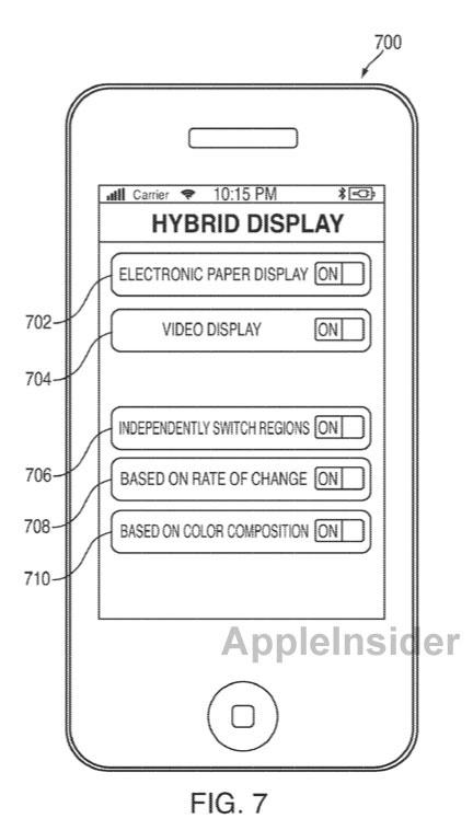 Patentaanvraag van Apple voor hybride display